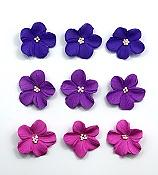 Assorted Purple/ Lilac Hydrangea Edible Toppers - 12 pack