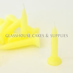 Pale Yellow Bullet Candles 10 pack