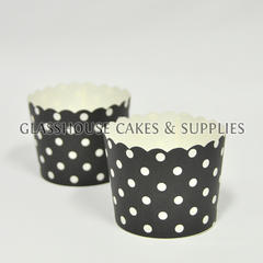 25 Fox Run Black/White Spots Cupcake Cases ?û Large