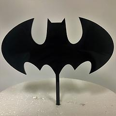 Batman Black Acrylic Cake Topper
