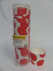 Baking Cups Red Dots Small