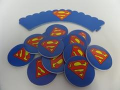 Superman Cupcake Wrappers and Toppers