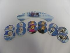 Frozen Cupcake Wrappers and Toppers