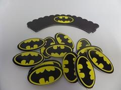 Batman Cupcake Wrappers and Toppers