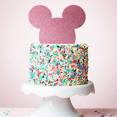 MOUSE (Pink Glitter) - Cake Topper