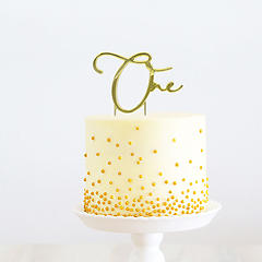 Number ONE (Gold Metal) - Cake Topper