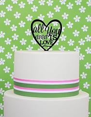 ALL YOU NEED IS LOVE (Black) - Cake Topper