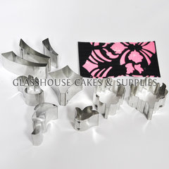 Art Deco Cake Cutters : Glasshouse Cakes & Supplies. Art Deco Flourish Cutter Set