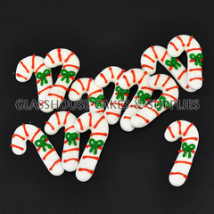 Candy Cane Edible Icing Toppers