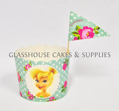 Disney Fairies Card Cupcake Cups with Picks