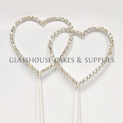 Double Heart Bling Topper #2