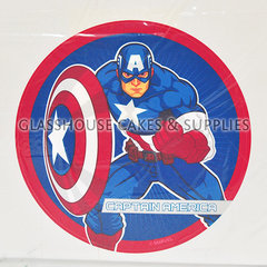 Captain America Cake Edible Images