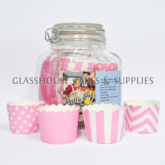 Jar of Patty Cups Pink Themed Robert Gordon