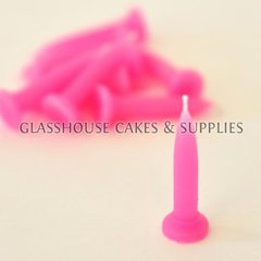 Pink Bullet Candles 10 pack