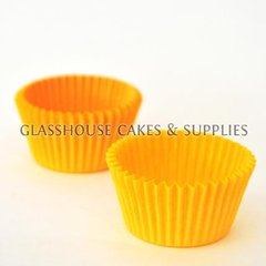50 Mini Patty Cups Yellow