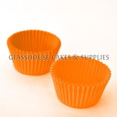 50 Mini Patty Cups Orange