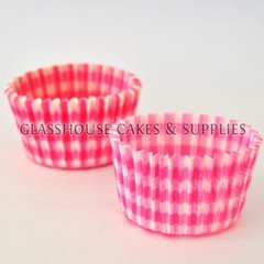 50 Pink Checkered Patty Cups