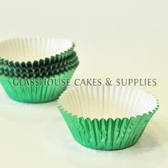 50 Metallic Green Patty Cups