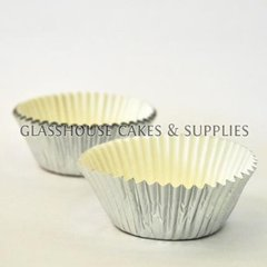 50 Mini Silver Patty Cups