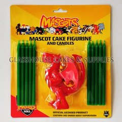 Dragons NRL Cake Figurine and Candles