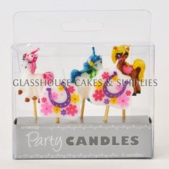 5 Horses and Horseshoes Candles