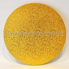 14 inch Round Gold MDF Boards x5