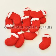 Christmas Stocking Edible Toppers - 12 pack