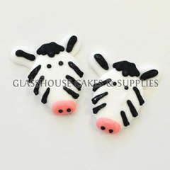 Zebra Edible Toppers - 6 pack