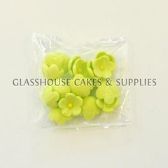 Pack of 20 Small Flowers - Lime Green
