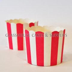 25 Fox Run Red/White Stripe Cups