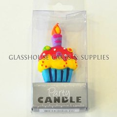 Cupcake Party Candle