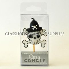Skull and Crossbones Party Candle