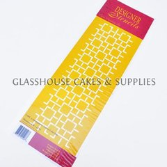 C495 Contemporary Lattice Cake Side Stencil