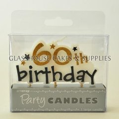 60th Birthday Stars Candle