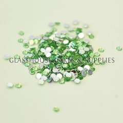 Pale Green Round Bling