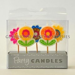 Bright Flowers Party Candle