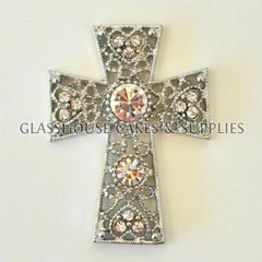 Light Diamante Cross