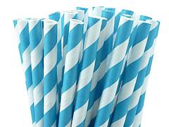 Paper Straws - Royal Blue and White
