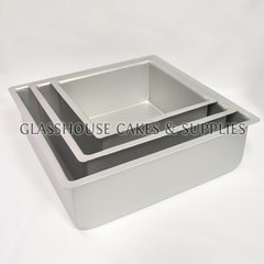 Square 4 Deep Anodized Baking Tin