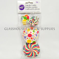 Wilton 74 Baking Cups and Picks Candy
