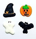 Assorted Halloween Edible Toppers - 12 pack