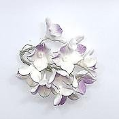 Purple and White Dogwood Flower Edible Toppers - 10 pack