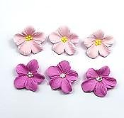 Assorted Pink Hydrangea Edible Toppers - 12 pack