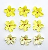 Assorted Yellow Hydrangea Edible Toppers - 12 pack