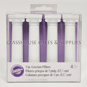 Wilton 4 Grecian pillars, 5 inches high