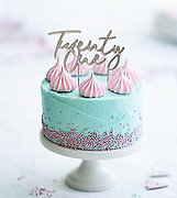 Number TWENTY ONE (Silver Metal) - Cake Topper