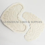 Large Lace Corner Silicone Mold 3