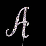 LETTER 'A' (Diamante) - Cake Topper