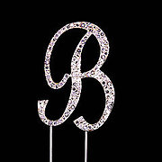 LETTER 'B' (Diamante) - Cake Topper