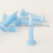 Sky Blue Bullet Candles 10 pack